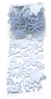 Queen & Co. - Felt Fusion 2.7 White Floral