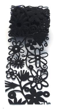 Queen & Co. - Felt Fusion 2.7 Black Floral