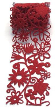 Queen & Co. - Felt Fusion 2.7 Red Floral