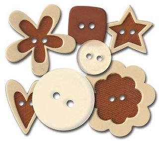 Queen & Co - Buttons -  Basic Brown