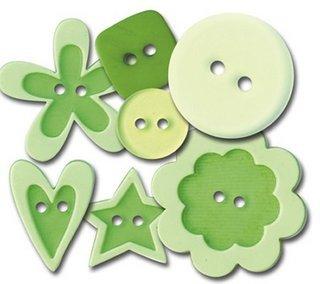 Queen & Co - Buttons -  Go Green