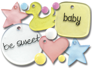 Queen & Co - Chic Charms - Baby Cakes