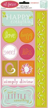 Tinkering Ink - Al Fresco Cardstock Glitter Sticker
