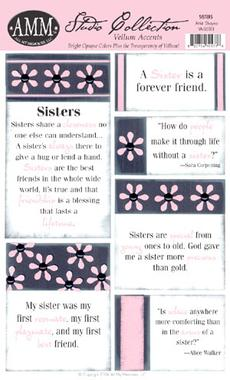 All My Memories Vellum Accents - Sister