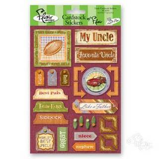 Flair Designs - Family Ties Say Uncle Cardstock Stickers