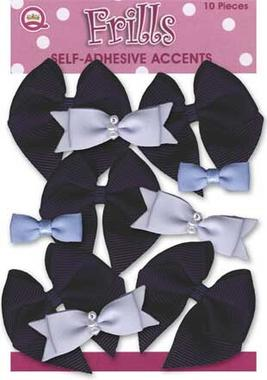 Queen & Co. - Self Adhesive Bows - Blue