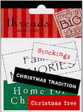 Christmas Traditions (Woven Labels)