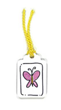 Pink Butterfly Tag